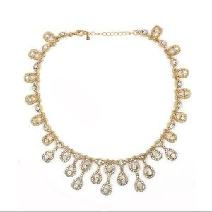 Noble golden crystal necklace